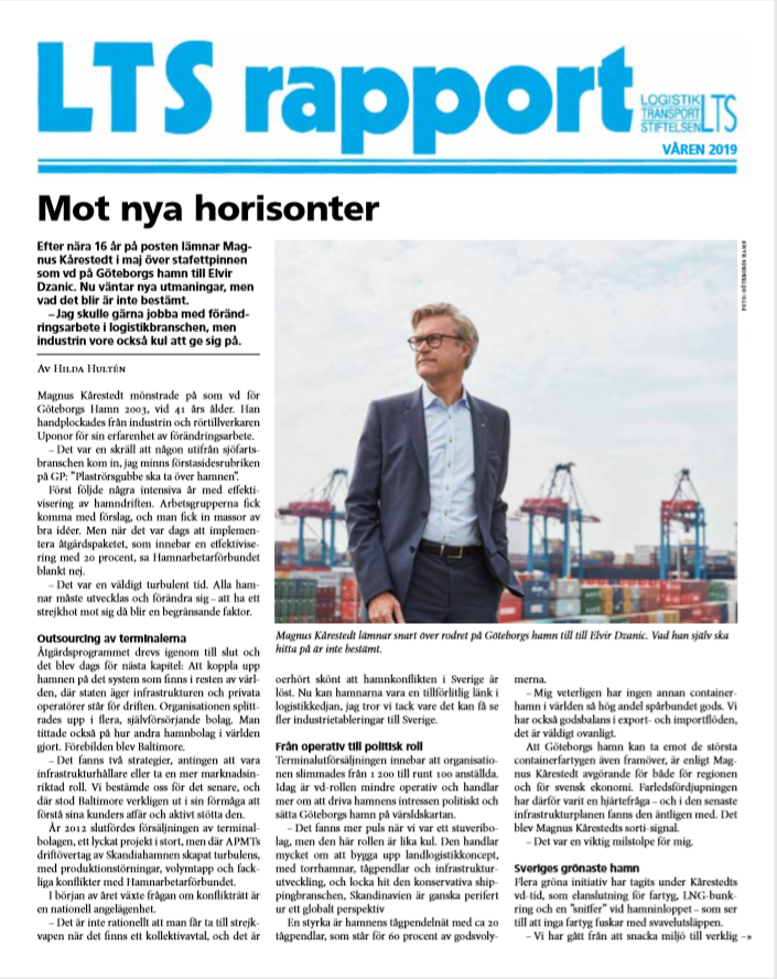 LTS RAPPORT 1 2019